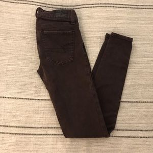 Burgundy American Eagle Jegging